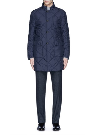 Main View - Click To Enlarge - Canali - Reversible wool and quilted shell coat