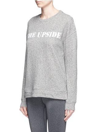 Front View - Click To Enlarge - The Upside - 'Cortina' flocked logo ribbon trim sweatshirt