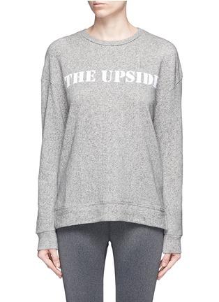 Main View - Click To Enlarge - The Upside - 'Cortina' flocked logo ribbon trim sweatshirt