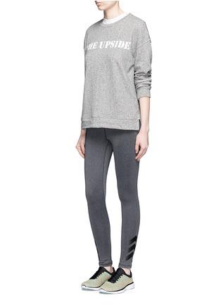 Figure View - Click To Enlarge - The Upside - 'Cortina' flocked logo ribbon trim sweatshirt