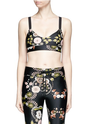 Main View - Click To Enlarge - THE UPSIDE - 'Varese Dance' floral print sports bra top