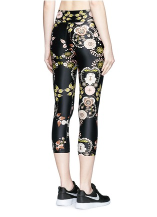 Back View - Click To Enlarge - THE UPSIDE - 'Varese NYC' floral print performance capri leggings