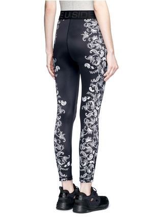 Back View - Click To Enlarge - The Upside - 'Etched Paisley Guru NYC' performance leggings