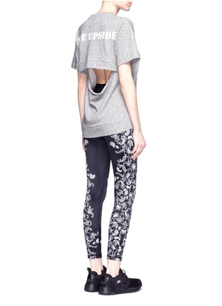 Figure View - Click To Enlarge - The Upside - 'Etched Paisley Guru NYC' performance leggings
