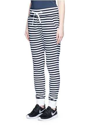 Front View - Click To Enlarge - The Upside - 'The Como' stripe French terry sweatpants