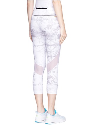 Back View - Click To Enlarge - Alala - 'White Palm' captain performance crop tights