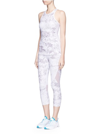 Figure View - Click To Enlarge - Alala - 'White Palm' captain performance crop tights