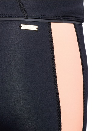 Detail View - Click To Enlarge - Alala - Blocked performance crop tights
