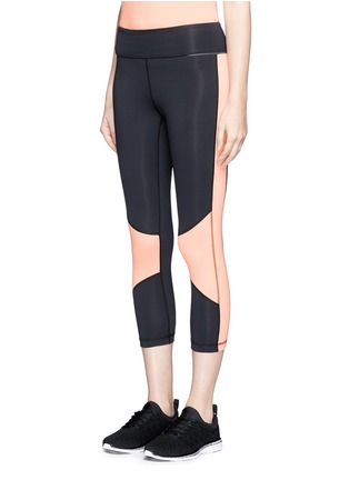 Front View - Click To Enlarge - Alala - Blocked performance crop tights