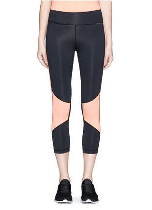Main View - Click To Enlarge - Alala - Blocked performance crop tights