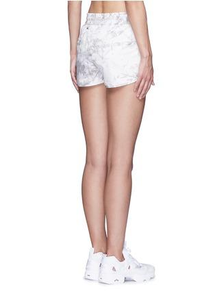 Back View - Click To Enlarge - Alala - 'White Palm' print drawstring running shorts