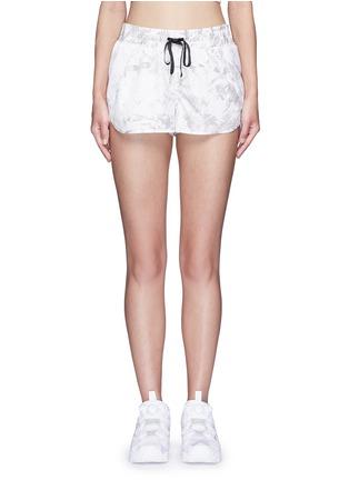Main View - Click To Enlarge - Alala - 'White Palm' print drawstring running shorts