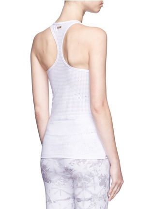 Back View - Click To Enlarge - Alala - 'White Palm' racerback tank top