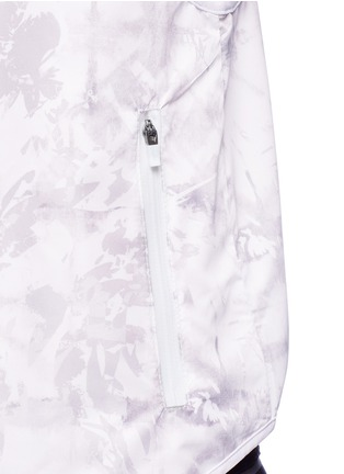 Detail View - Click To Enlarge - Alala - 'White Palm' print hooded run vest