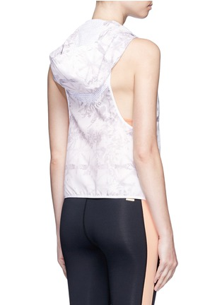 Back View - Click To Enlarge - Alala - 'White Palm' print hooded run vest