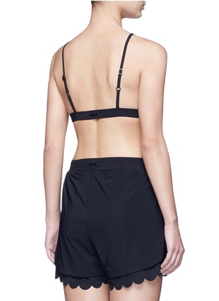 Back View - Click To Enlarge - Koral - 'Dice Versatility' scalloped edge bra
