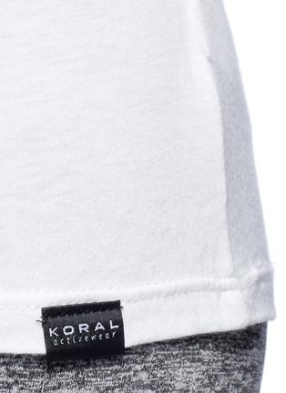 Detail View - Click To Enlarge - 72993 - 'Aura' crisscross back modal-cotton top