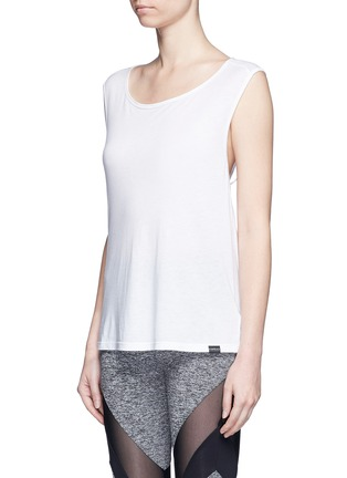 Front View - Click To Enlarge - 72993 - 'Aura' crisscross back modal-cotton top
