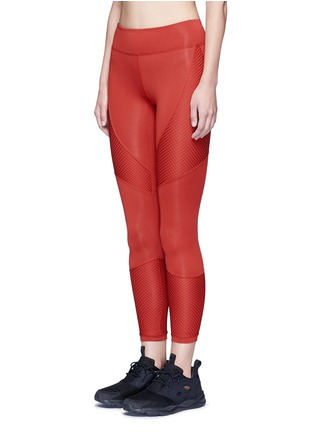 Front View - Click To Enlarge - Koral - 'Sector' mesh panel leggings