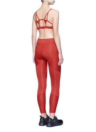 Figure View - Click To Enlarge - Koral - 'Sector' mesh panel leggings