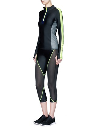 Figure View - Click To Enlarge - Laain - Mesh panel performance jersey 3/4 leggings