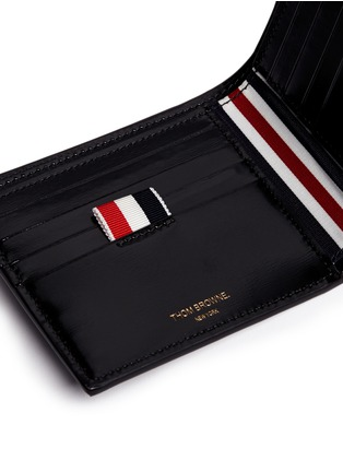 Detail View - Click To Enlarge - Thom Browne - Zen garden embossed leather bifold wallet