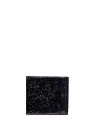 Back View - Click To Enlarge - Thom Browne - Zen garden embossed leather bifold wallet