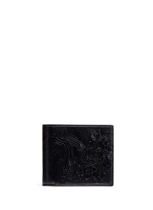 Main View - Click To Enlarge - Thom Browne - Zen garden embossed leather bifold wallet