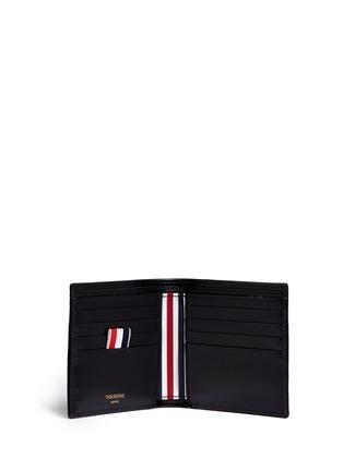 Figure View - Click To Enlarge - Thom Browne - Zen garden embossed leather bifold wallet