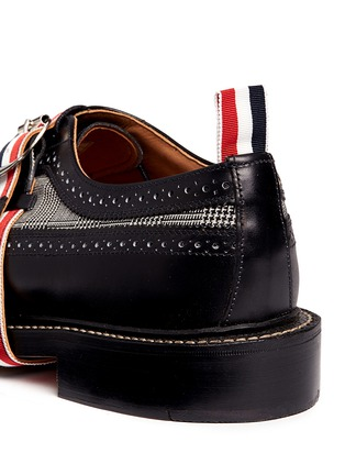 Detail View - Click To Enlarge - Thom Browne - Glen plaid and leather longwing Derbies