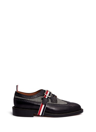 Main View - Click To Enlarge - Thom Browne - Glen plaid and leather longwing Derbies