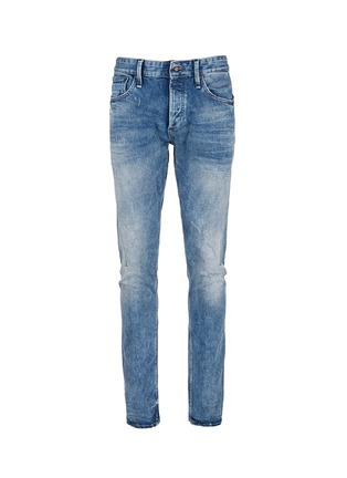 Main View - Click To Enlarge - Denham - 'Cross' carrot fit jeans