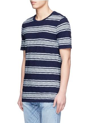 Front View - Click To Enlarge - DENHAM - 'Signature' stripe cotton T-shirt