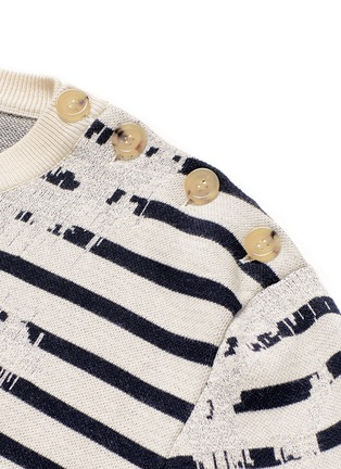 Detail View - Click To Enlarge - ALEXANDER MCQUEEN - Mending jacquard stripe sweater