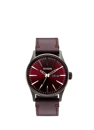 Main View - Click To Enlarge - Nixon Accessories - 'The Sentry Leather' watch