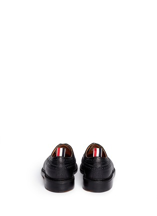 Back View - Click To Enlarge - Thom Browne - Pebble leather brogue Derbies