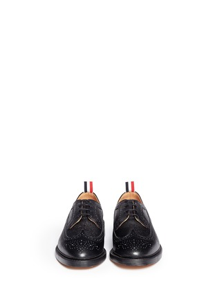 Figure View - Click To Enlarge - Thom Browne - Pebble leather brogue Derbies