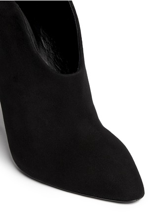 Detail View - Click To Enlarge - 73426 - U-throat suede mules