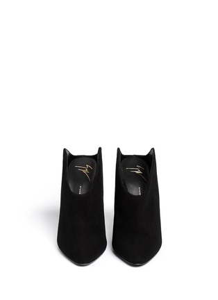 Figure View - Click To Enlarge - 73426 - U-throat suede mules