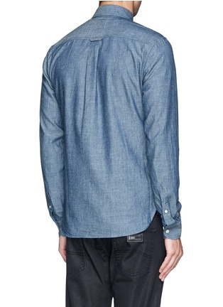 Back View - Click To Enlarge - HARDY AMIES - Cotton chambray shirt