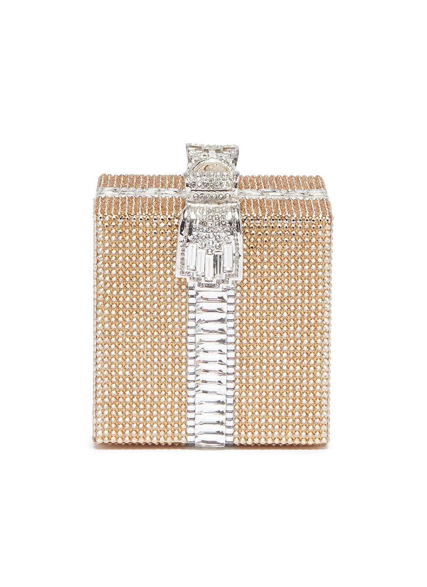 'Cube' Swarovski crystal pavé minaudière