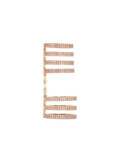 REPOSSI 'Berbère' diamond 18k rose gold seven row linked ring