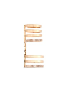 REPOSSI 'Berbère' diamond 18k rose gold seven row linked ring