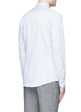 Back View - Click To Enlarge - Barena - 'Coppi' cotton pindot dobby shirt