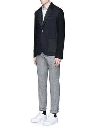 Figure View - Click To Enlarge - Barena - 'Coppi' cotton pindot dobby shirt
