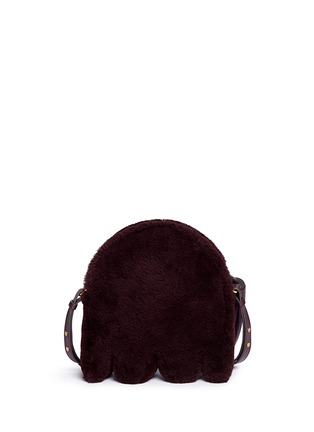 Back View - Click To Enlarge - Anya Hindmarch - 'Ghost' shearling crossbody bag