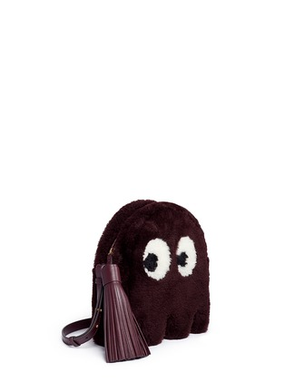 Front View - Click To Enlarge - Anya Hindmarch - 'Ghost' shearling crossbody bag