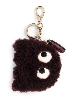 Main View - Click To Enlarge - Anya Hindmarch - 'Ghost' shearling coin pouch