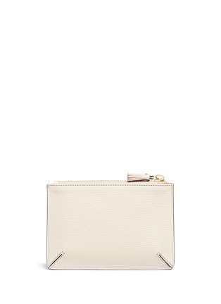 Figure View - Click To Enlarge - Anya Hindmarch - 'Small Loose Pocket' character embossed leather zip pouch