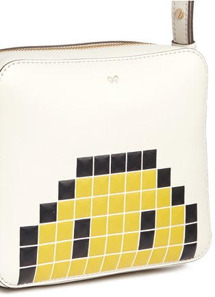 Detail View - Click To Enlarge - Anya Hindmarch - 'Pixel Smiley' embossed lethe crossbody bag